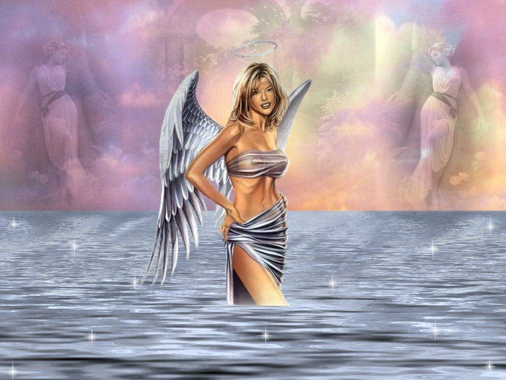 Fond D'ecran Gratuit Ange. fond d'ecran,bel ange ,servez